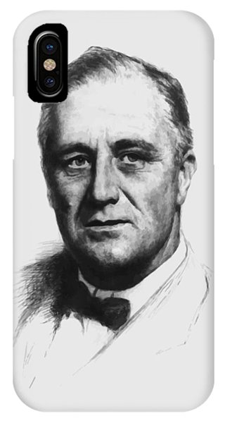 Leader iPhone Case - Franklin Roosevelt by War Is Hell Store