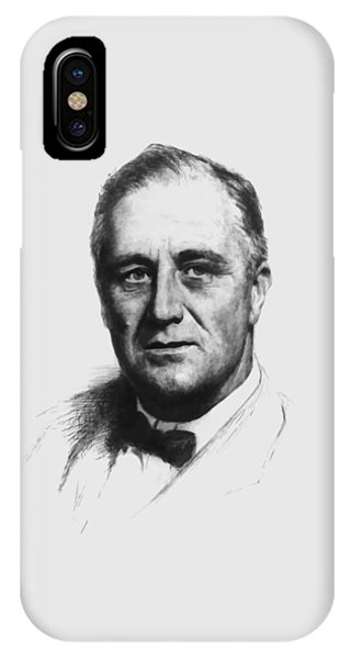 World War Two iPhone Case - Franklin Roosevelt by War Is Hell Store