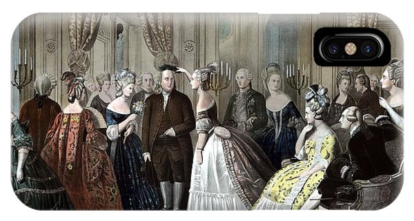 Inventor iPhone Case - Franklin's Reception At The Court Of France by War Is Hell Store