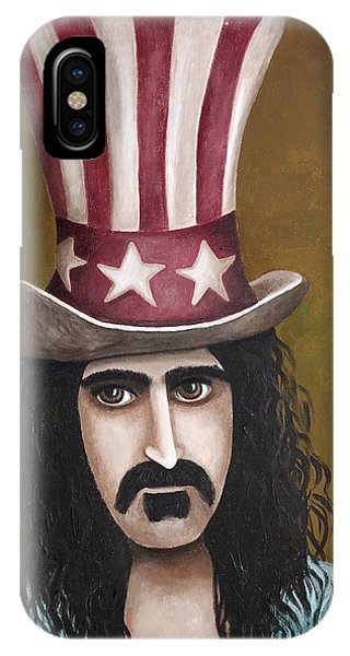 Frank Zappa iPhone Case - Franks Hat by Leah Saulnier The Painting Maniac