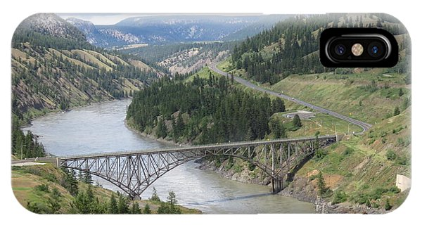 Fraser River Bridge Near Williams Lake IPhone Case