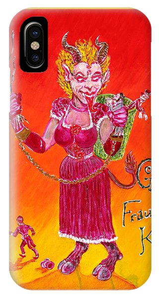 Frau Krampus IPhone Case