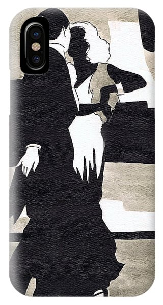 Dance iPhone Case - Fred And Ginger by Mel Thompson