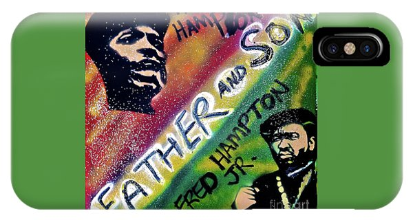 Fred Hampton iPhone X Case -  Fred Hampton Father And Son by Tony B Conscious