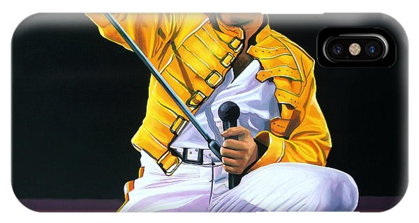 Concert iPhone Case - Freddie Mercury Live by Paul Meijering
