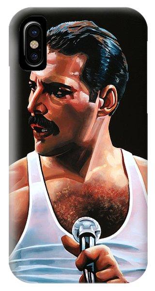 Concert iPhone Case - Freddie Mercury by Paul Meijering