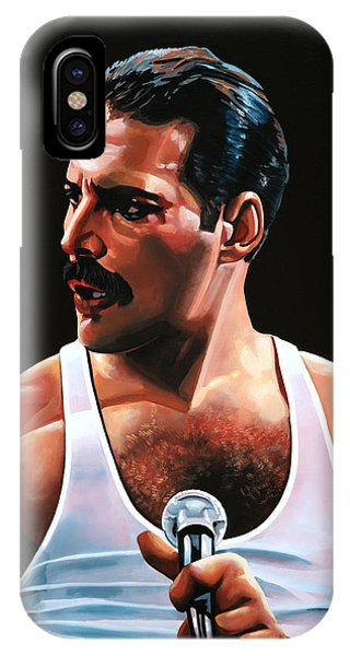 Hero iPhone Case - Freddie Mercury by Paul Meijering