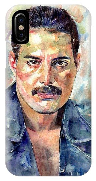 Gay Men iPhone Case - Freddie Mercury Portrait by Suzann Sines