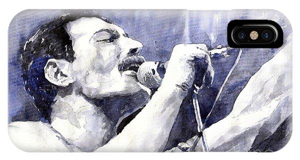 Portret iPhone Case - Freddie Mercury by Yuriy Shevchuk