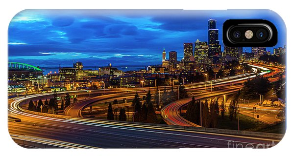 Freeway 5 North To Seattle IPhone Case