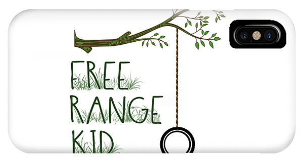 Free Range Kid IPhone Case