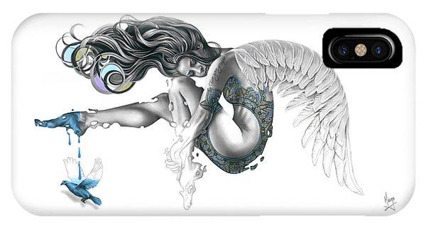 Hyper Realism iPhone Case - Free Your Spirit by Karina Llergo