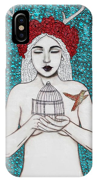 IPhone Case featuring the mixed media Freedom by Natalie Briney