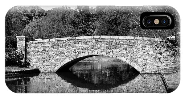 Freedom Park Bridge In Black And White IPhone Case