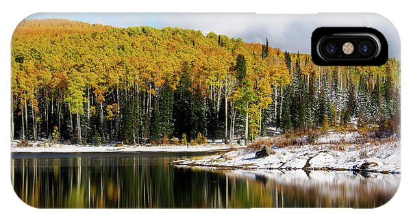 Freeman Lake In Northwest Colorado In The Fall IPhone Case