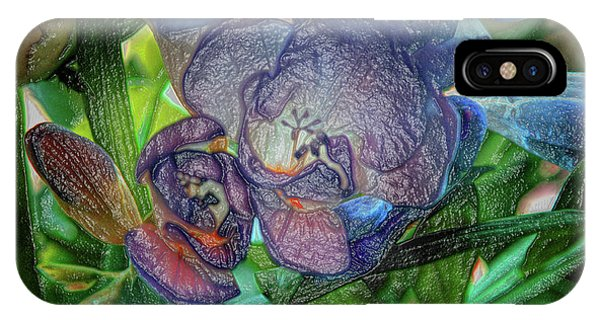 IPhone Case featuring the photograph Freesia Multi Coloured by Lance Sheridan-Peel