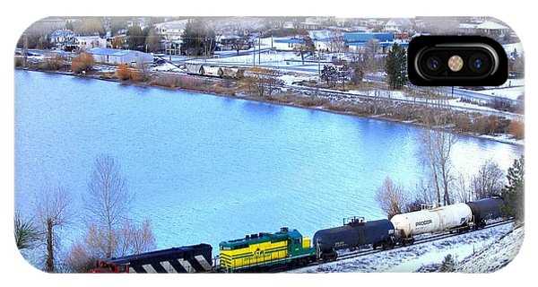 Oyama iPhone Case - Freight Train At Oyama by Will Borden