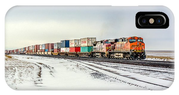 Train iPhone X Case - Freight Train by Todd Klassy