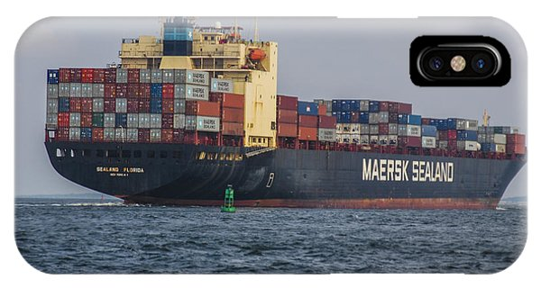 Freighter Headed Out To Sea IPhone Case