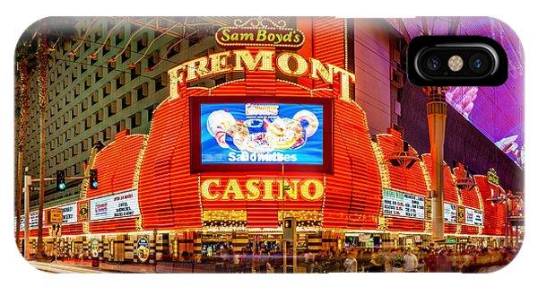 Las Vegas iPhone X Case - Fremont Casino by Az Jackson