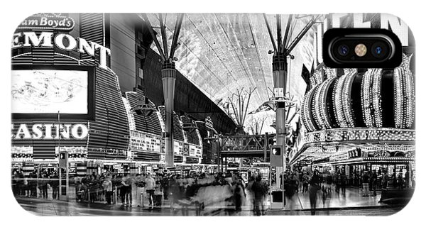 Fremont Street Casinos Bw IPhone Case