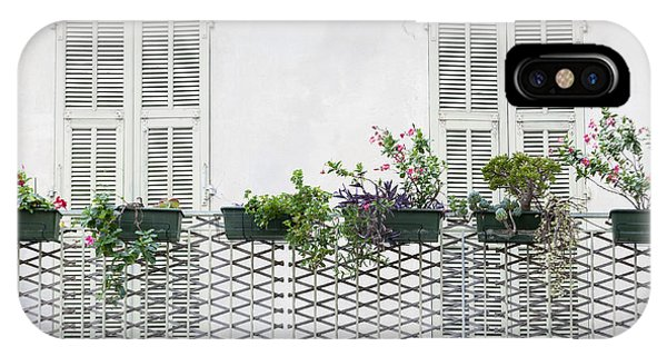 French Riviera iPhone Case - French Balcony With Shutters by Elena Elisseeva