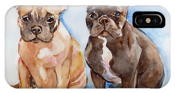 iPhone Case - French Bull Dog by Maria Reichert