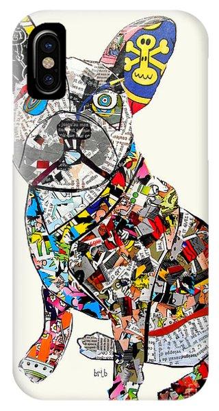 French Artist iPhone Case - French Bulldog by Bri Buckley