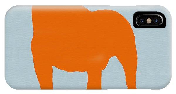 Dog iPhone X Case - French Bulldog Orange by Naxart Studio