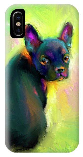 French Artist iPhone Case - French Bulldog Painting 4 by Svetlana Novikova