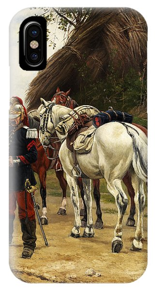 Cavalry iPhone Case - French Cavalry by Eugene Chaperon