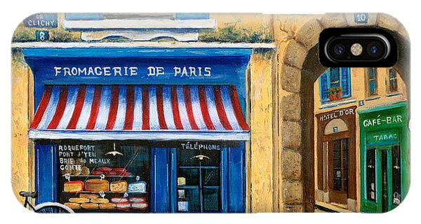 Paris iPhone Case - French Cheese Shop by Marilyn Dunlap