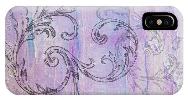 IPhone Case featuring the painting French Country Scroll by Jocelyn Friis