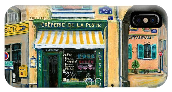 Street Sign iPhone Case - French Creperie by Marilyn Dunlap