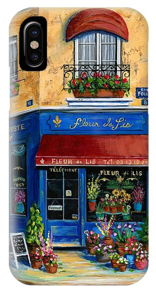 Paris Metro iPhone Case - French Flower Shop by Marilyn Dunlap