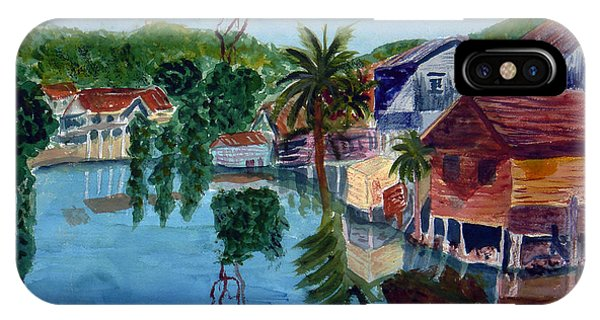 French Harbor Isla De Roatan IPhone Case