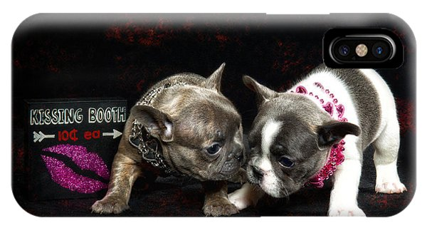 French Bull Dog iPhone Case - French Kisses by Katie Abrams