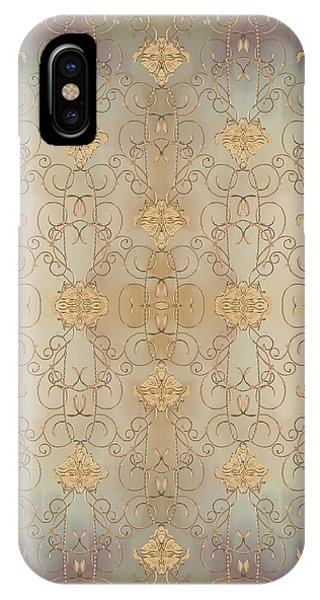 Repeat iPhone Case - French Parisian Damask Swirl Vintage Style Wallpaper by Audrey Jeanne Roberts