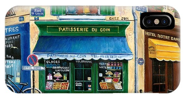 French Landscape iPhone Case - French Pastry Shop by Marilyn Dunlap