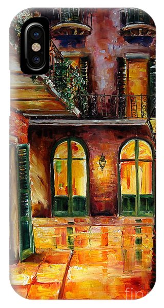 af429664382 IPhone Case featuring the painting French Quarter Alley by Diane Millsap
