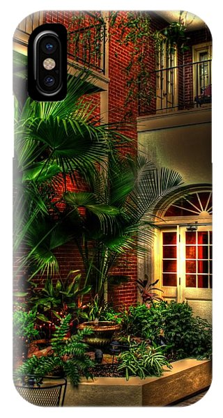 French Quarter Courtyard IPhone Case