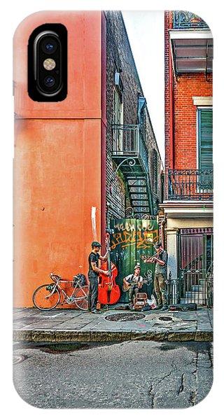 Steve Harrington iPhone Case - French Quarter Trio by Steve Harrington