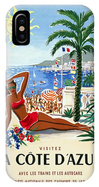 French Riviera iPhone Case - French Riviera Travel Poster by Jon Neidert