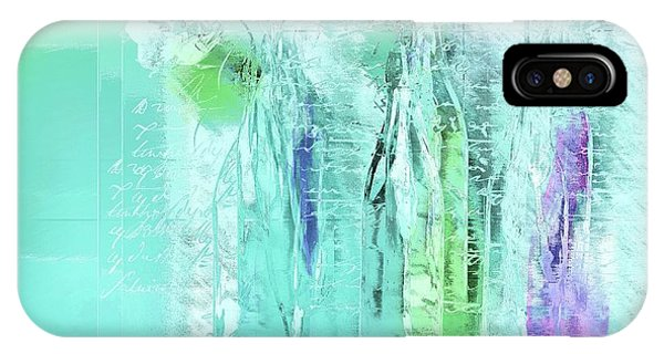 Aqua iPhone Case - French Still Life - 14b by Variance Collections