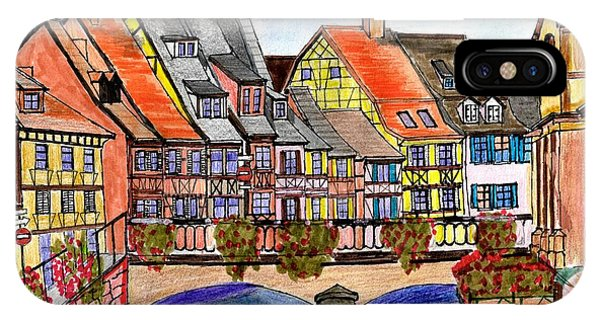 French Village On The River IPhone Case