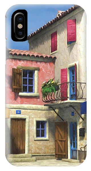 French Village Scene - Provence IPhone Case
