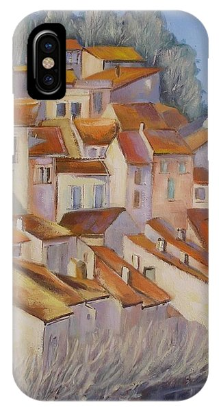 French Villlage Painting IPhone Case