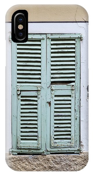 French Riviera iPhone Case - French Window With Shutters by Elena Elisseeva