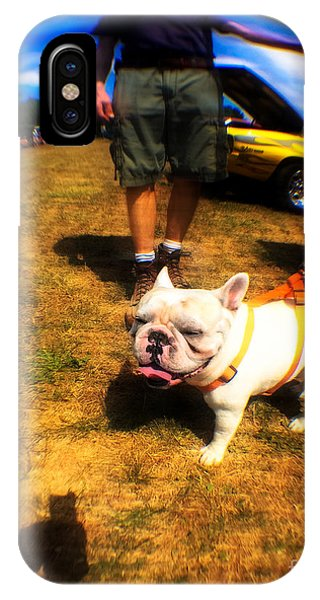 French Bull Dog iPhone Case - Frenchy At The Car Show  by Steven Digman