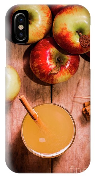 Smoothie iPhone Case - Fresh Apple Cider With Cinnamon Sticks And Apples by Jorgo Photography - Wall Art Gallery